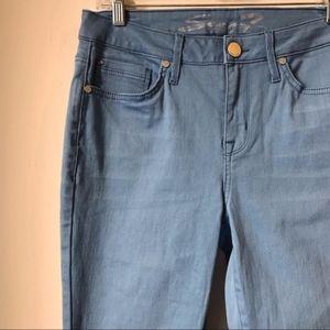 Seven7 NWOT Light Blue Raw Hem Skinny Jeans AH